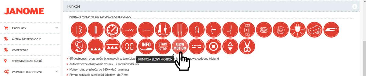 Strona Janome.pl pomoże Ci poznać funkcje maszyn