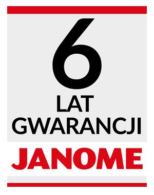 6 lat gwarancji na maszyny do szycia Janome