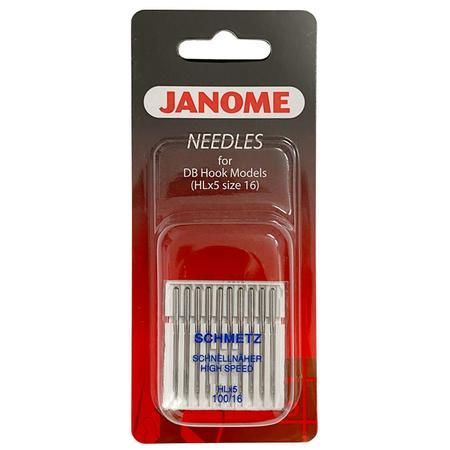 Igły Janome do tkanin - 10 szt. grubość 100 (tylko do modelu Janome 1600P i HD9) - janome 767814003