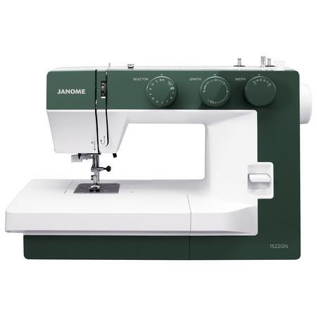 Maszyna do szycia JANOME 1522 GN w kolorze zielonym, fig. 1