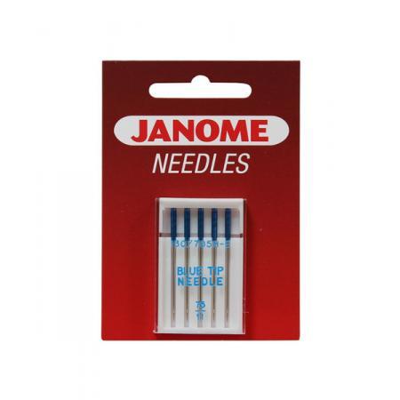 Igły Janome Blue Tip do tkanin i poliestrów - 5 szt. o grubości 75, fig. 1