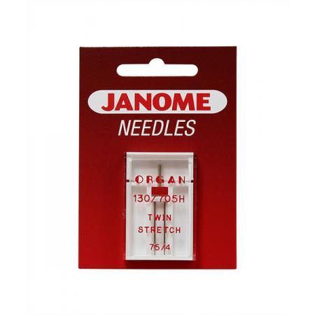 Igła podwójna Janome do dzianin o grubości 75 i rozstawie 4 mm, fig. 1
