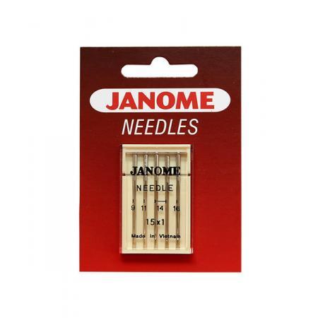 Igły Janome do tkanin - 5 szt. o grubości 65, 75, 90 i 100, fig. 1