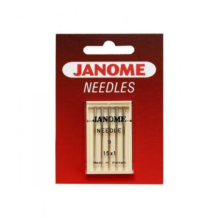Igły Janome do tkanin - 5 szt. o grubości 65, fig. 1