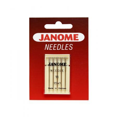Igły Janome do tkanin - 5 szt. o grubości 75, fig. 1