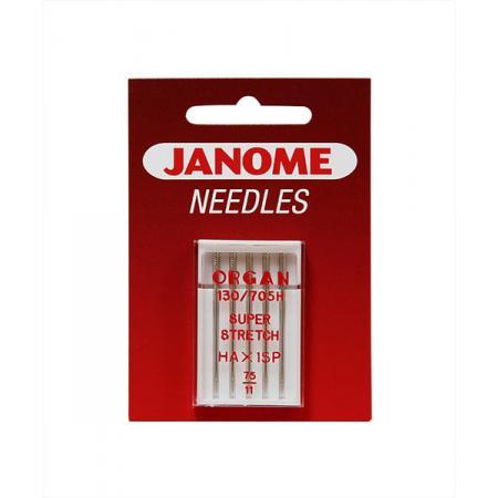 Igły Janome do dzianin, stretchu i materiałów super elastycznych - 5 szt. o grubości 75, fig. 1