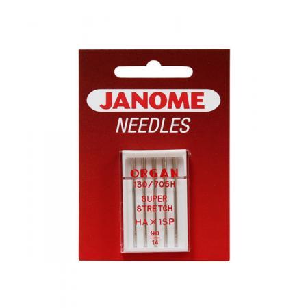 Igły Janome do dzianin, stretchu i materiałów super elastycznych - 5 szt. o grubości 90, fig. 1