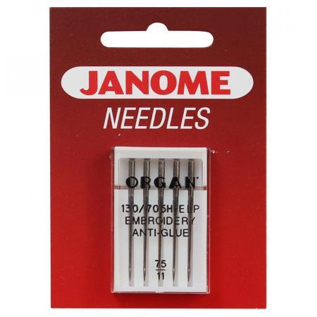 Igły Janome do haftowania Anti-Glue - 5 szt. o grubości 75, fig. 1
