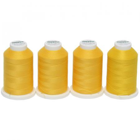 Zestaw nici do owerloka Madeira - żółte, fig. 1