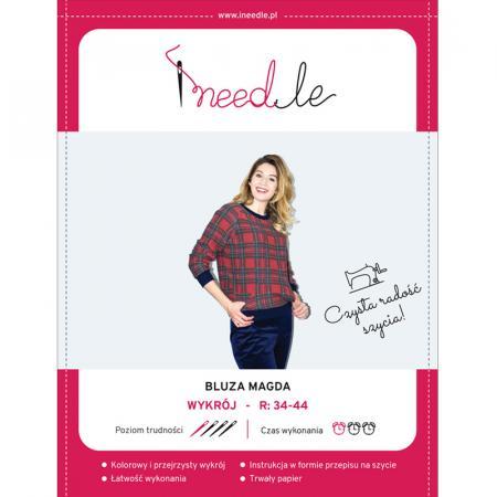Wykrój na bluzę damską z rękawem raglanowym Magda, fig. 1