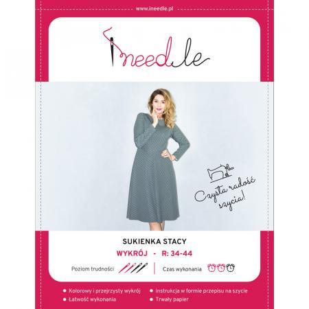 Wykrój na klasyczną sukienkę damską Stacy, fig. 1