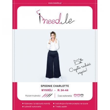 Wykrój na spodnie damskie z szerokimi nogawkami Charlotte, fig. 1