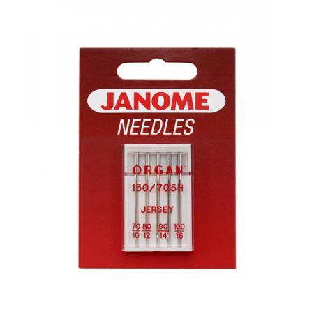 Igły Janome do dzianin i materiałów elastycznych - 6 szt. o grubości 70, 80, 90 i 100, fig. 1