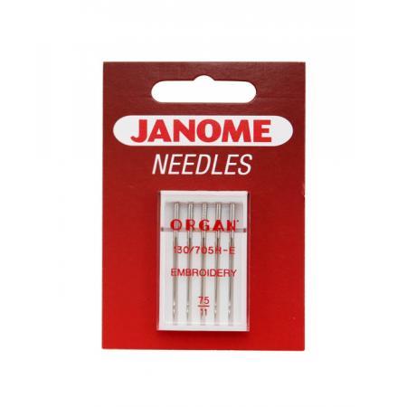 Igły Janome haftowania - 5 szt. o grubości 75, fig. 1