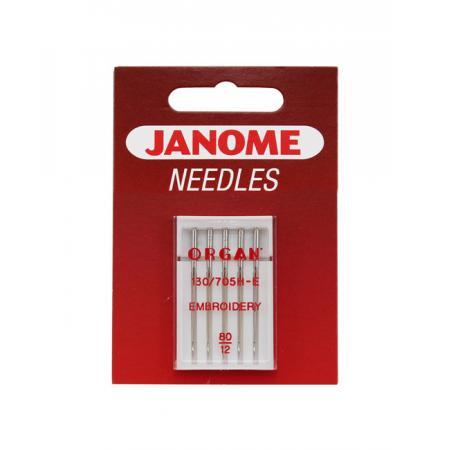Igły Janome haftowania - 5 szt. o grubości 80, fig. 1