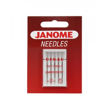 Igły Janome haftowania - 5 szt. o grubości 75 i 80, fig. 1