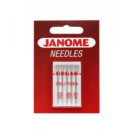 Igły Janome do tkanin - 5 szt. o grubości 70, 80 i 90, fig. 1