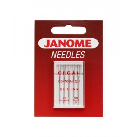 Igły Janome do pikowania i szycia patchworków - 5 szt. o grubościach 75 i 90, fig. 1