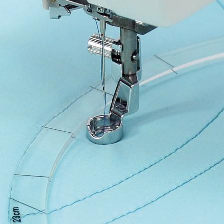 Stopka do pikowania, haftowania i cerowania przy linijce Janome (rotacyjny 9 mm), fig. 1