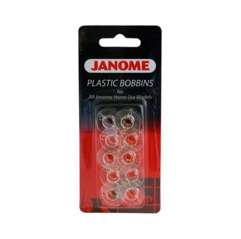 Szpulki plastikowe, płaskie Janome 10 sztuk, fig. 1