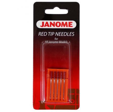 Igły Janome Red Tip do tkanin - 5 szt. o grubości 90, fig. 1