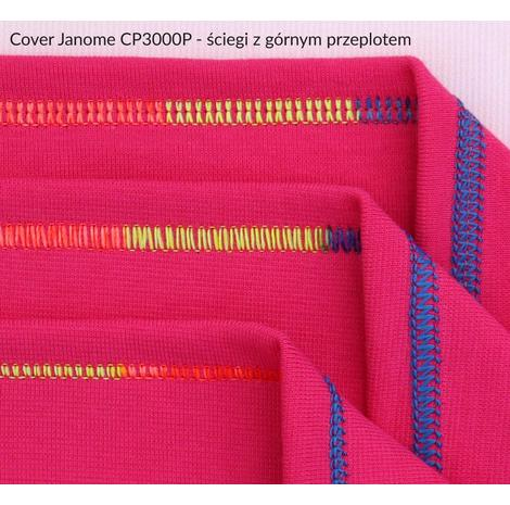 Cover z górnym przeplotem JANOME CP3000 Professional