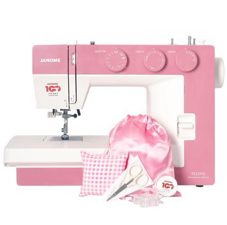 Maszyna do szycia JANOME 1522 PG w kolorze różowym