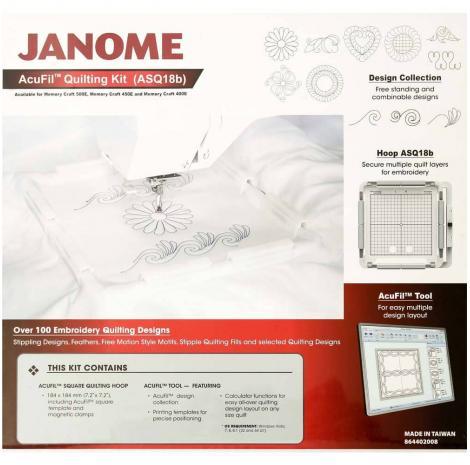 Zestaw do pikowania AcuFil do Janome MC400E, MC500E, fig. 1