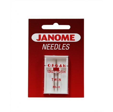 Igła podwójna Janome do tkanin o grubości 80 i rozstawie 4 mm, fig. 1