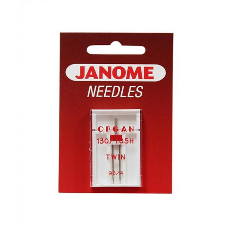 Igła podwójna Janome do tkanin  o grubości 90 i rozstawie 4 mm, fig. 1