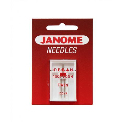 Igła podwójna Janome do tkanin o grubości 100 i rozstawie 4 mm, fig. 1