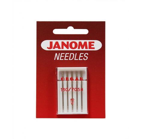Igły Janome do tkanin - 5 szt. o grubości 80, fig. 1
