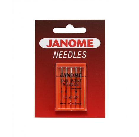 Igły Janome do dzianin i materiałów elastycznych - 5 szt. o grubości 65, 75 i 90, fig. 1