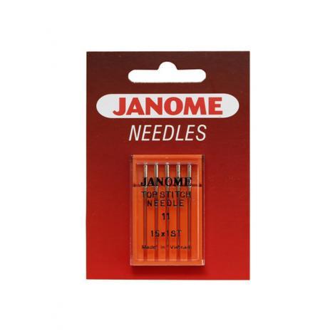Igły Janome do tkanin - 5 szt. o grubości 75 (ściegi dekoracyjne), fig. 1