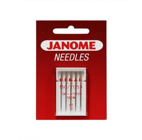 Igły Janome do tkanin - 5 szt. o grubości 80 (ściegi dekoracyjne), fig. 1