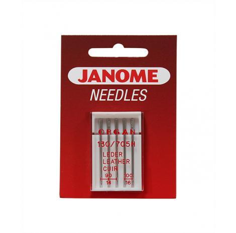 Zestaw igieł Janome do maszyn do szycia (do tkanin, dzianin, jeansu, skóry, podwójna)