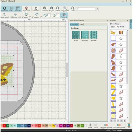 Podstawowy program do projektowania haftów Janome Digitizer JR v5.5, fig. 4