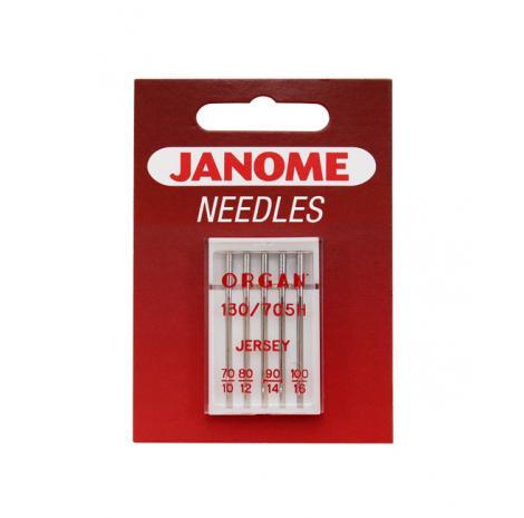 Igły Janome do dzianin i materiałów elastycznych - 5 szt. o grubości 70, 80, 90 i 100, fig. 1