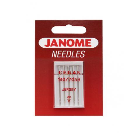Igły Janome do dzianin i materiałów elastycznych - 5 szt. o grubości 80, fig. 1