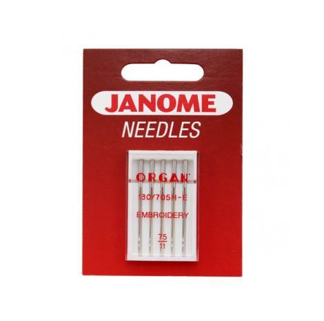 Igły Janome do haftowania - 5 szt. o grubości 75, fig. 1
