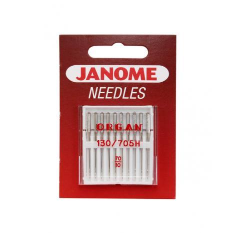 Igły Janome do tkanin - 10 szt. o grubości 70, fig. 1