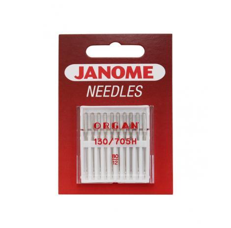 Igły Janome do tkanin - 10 szt. o grubości 80, fig. 1