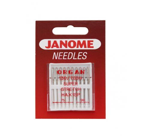 Igły Janome do dzianin, stretchu i materiałów super elastycznych - 10 szt. o grubości 75 i 90, fig. 1