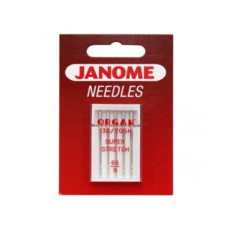 Igły Janome do dzianin, stretchu i materiałów super elastycznych - 5 szt. o grubości 65, fig. 1