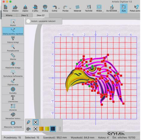 Profesjonalny program do projektowania haftów Janome Artistic Digitizer, fig. 2