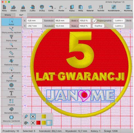 Profesjonalny program do projektowania haftów Janome Artistic Digitizer, fig. 4